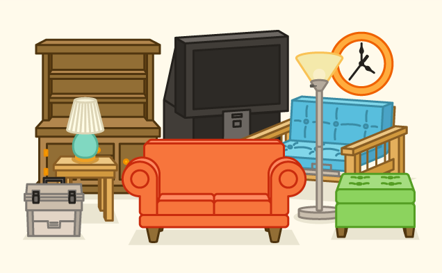combining furniture when moving in together