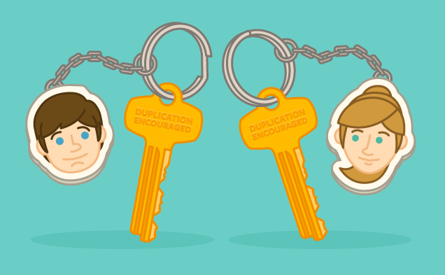 Sharing keys, advice and tips for moving in with your fiance, spouse, or significant other