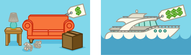 move a couch or boat - Typical Relocation Package Average Relocation Package Examples